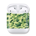 Green Camouflage Pattern Wireless Earphones Charging Box Protective Film Sticker for Apple AirPods