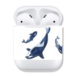 Whale Pattern Wireless Earphones Charging Box Protective Film Sticker for Apple AirPods