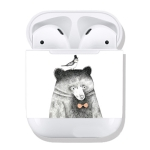 Polar Bear Pattern Wireless Earphones Charging Box Protective Film Sticker for Apple AirPods
