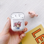 Piggy Boy Pattern Shockproof Coloured Drawing PC Protective Case for Apple AirPods