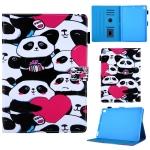 Pandas Pattern Horizontal Flip Leather Case for iPad Air / Air 2 / iPad Pro 9.7 2016 / iPad 9.7 2017 / iPad 9.7 2018, with Holder & Card Slot & Sleep / Wake-up Function