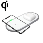 W32 2 in 1 QI Standard Dual Charge Wireless Charger for QI Standard Mobile Phone & iWatch(White)