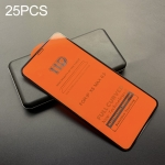 25 PCS mietubl Scratchproof 11D HD Full Glue Full Curved Screen Tempered Glass Film for iPhone XS Max(Black)