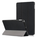 Custer Texture Horizontal Flip Leather Case for  iPad Mini 2019 & Mini 4, with Three-folding Holder & Sleep / Wake-up Function (Black)