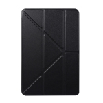 Honeycomb TPU Bottom Case Horizontal Deformation Flip Leather Case for iPad Mini 2019,with Holder (Black)