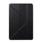 Honeycomb TPU Bottom Case Horizontal Deformation Flip Leather Case for iPad Mini 2019,with Holder (Black)