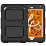 Shockproof PC + Silica Gel Protective Case for iPad Mini 2019 / Mini 4, with Holder & Shoulder Strap (Black)