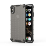 Shockproof Honeycomb PC + TPU Protective Case for iPhone XS Max (Black)