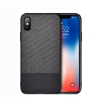 Shockproof Splicing PU + Cloth Protective Case for iPhone XS Max (Black)
