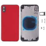 Back Cover with Camera Lens & SIM Card Tray & Side Keys for iPhone XS Max(Red)
