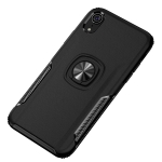 Shockproof Car Magnetic Case with 360 Degree Gold Armor Ring for iPhone XR (Black)