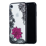 Small Lotus Pattern Embossed Lace + PC Case for iPhone XR