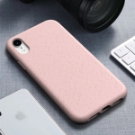 Starry Series Shockproof  Straw Material + TPU Protective Case for iPhone XR (Pink)
