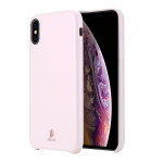 DUX DUCIS Skin Lite Series Ultra-thin Shockproof PU Case for iPhone XS / X(Pink)