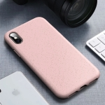 Starry Series Shockproof  Straw Material + TPU Protective Case for iPhone XS / X(Pink)