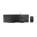Logitech MK100 PS / 2 Interface Prevent Water Splashing Wired Keyboard + USB Interface Wired Mouse Set (Black)