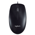 Logitech M100R USB Interface Full Size 1000DPI Wired Optical Mouse (Black)