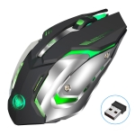 HXSJ M10 2.4GHz 6-keys USB Rechargeable Colorful Lighting Ergonomic 2400DPI Wireless Optical Gaming Mouse for Desktop Computers