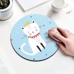 Princess Cat Pattern Circular Mouse Pad, Diameter: 22cm