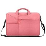 ST02S Waterproof Tear Resistance Hidden Portable Strap One-shoulder Handbag for 13.3 inch Laptops, with Suitcase Belt(Pink)