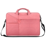 ST02S Waterproof Tear Resistance Hidden Portable Strap One-shoulder Handbag for 15.6 inch Laptops, with Suitcase Belt(Pink)