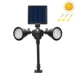Solar Powered Robot LED Spotlight Double-headed Smart Sensor Light for Outdoor Lawn