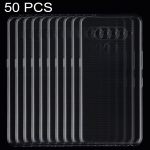 50 PCS 0.75mm Ultrathin Transparent TPU Soft Protective Case for V50 ThinQ 5G
