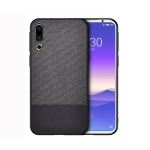 Shockproof Splicing PU + Cloth Protective Case for Meizu 16S (Black)