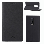 ViLi Texture PU Leather Case for Oneplus 7 Pro ,with Holder & Card Slots & Wallet (Black)