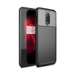 Carbon Fiber Texture Shockproof TPU Case for OnePlus 7 Pro (Black)