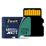 Zsuit 256GB High Speed Class10 Silver Grey TF(Micro SD) Memory Card