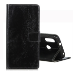 Retro Crazy Horse Texture Horizontal Flip Leather Case for Motorola Moto P40 Play, with Holder & Card Slots & Wallet & Photo Frame (Black)