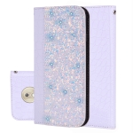 Crocodile Texture Glitter Powder Horizontal Flip Leather Case for Motorola G7 Play, with Card Slots & Holder (White)