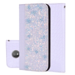 Crocodile Texture Glitter Powder Horizontal Flip Leather Case for Motorola G7 Power, with Card Slots & Holder (White)