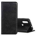 Magnetic Crazy Horse Texture Horizontal Flip Leather Case for Motorola Moto P40 Power, with Holder & Card Slots & Wallet (Black)