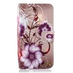 Lotus Pattern Horizontal Flip Leather Case for Motorola Moto G6 Plus, with Holder & Card Slots & Wallet