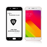MIETUBL Full Screen Full Glue Anti-fingerprint Tempered Glass Film for OPPO F1s (Black)