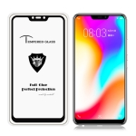 MIETUBL Full Screen Full Glue Anti-fingerprint Tempered Glass Film for Vivo Y81 (Black)