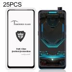 25 PCS MIETUBL Full Screen Full Glue Anti-fingerprint Tempered Glass Film for Vivo S1 (Black)