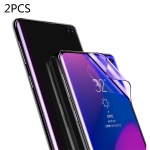 2 PCS Baseus 0.15mm Full Screen Curved Edge Anti Blue-ray Anti-explosion Soft Film for Galaxy S10 Plus