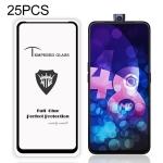 25 PCS MIETUBL Full Screen Full Glue Anti-fingerprint Tempered Glass Film for Vivo V15 (Black)