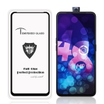 MIETUBL Full Screen Full Glue Anti-fingerprint Tempered Glass Film for Vivo V15 (Black)