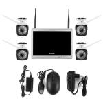 COTIER N4B3H2-P12/Kit 1080P Wireless Network Video Recorder Surveillance System Display:12.5 inch (White)