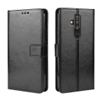 Crazy Horse Texture Horizontal Flip Leather Case for Nokia X71 (8.1 Plus), with Holder & Card Slots & Wallet (Black)