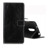 Retro Crazy Horse Texture Horizontal Flip Leather Case for Nokia 3.2, with Holder & Card Slots & Wallet & Photo Frame (Black)