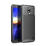 Carbon Fiber Texture Shockproof TPU Case for Nokia 1 Plus (Black)