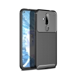 Carbon Fiber Texture Shockproof TPU Case for Nokia 6.2 / X71 (Black)