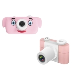 D3 PLUS 1200W Pixel Lens Elephant Cartoon Mini Digital Sport Camera with 2.0 inch Screen for Children (Pink)