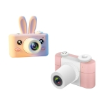 D3 PLUS 1200W Pixel Lens Rabbit Cartoon Mini Digital Sport Camera with 2.0 inch Screen for Children (Pink)