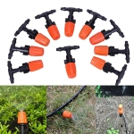 10 PCS Garden Adjustable Atomization Water Sprinklers Lawn Irrigation Nozzle